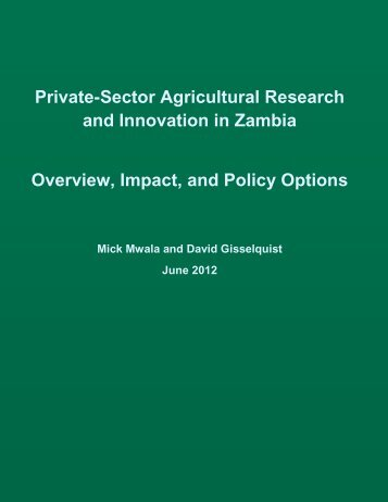 Zambia country report - ASTI - cgiar