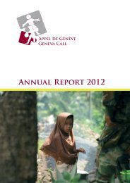 Annual Report 2012 - Geneva Call