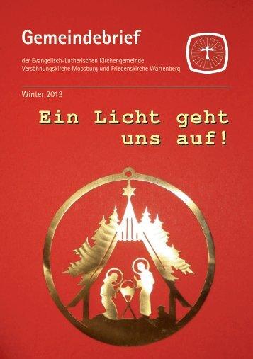 Vorlage Gemeindebrief - Moosburg Evangelisch