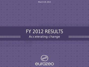 2012 2011 - Eurazeo