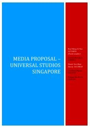 Media Proposal – Universal Studios Singapore - Strongerhead