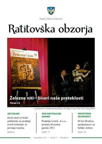 Ratitovška obzorja (november 2012) - Železniki