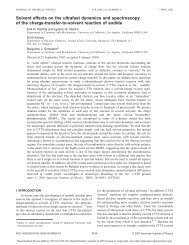 Solvent effects on the ultrafast dynamics and spectroscopy of the ...