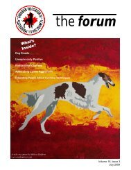 forum - Canadian Association of Professional Pet Dog Trainers