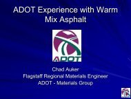 ADOT Experience with Warm Mix Asphalt