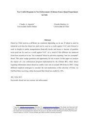 Tax Credits Response to Tax Enforcement - Universidad Adolfo Ibañez