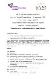 Forum Odpowiedzialnego Biznesu oraz Centrum Promocji i ...