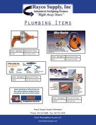 Plumbing Items - Rayco Supply, Inc.