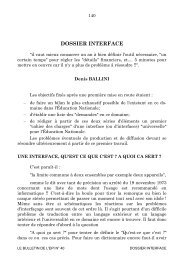 DOSSIER INTERFACE - Archive-EduTice