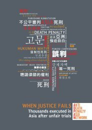When Justice Fails = Thousands Executed In Asia After Unfair Trial
