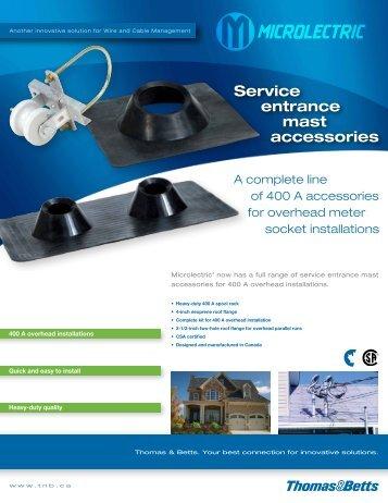 Service entrance mast accessories