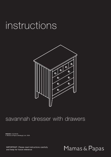 Savannah Dresser Drawers - Mamas & Papas