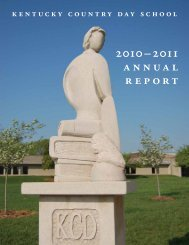 2010–2011 annual report - Kentucky Country Day