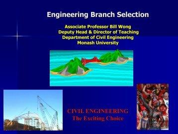 Civil engineering - Faculty of Engineering - Monash University