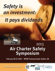 Safety is an investment - Air Charter Safety Foundation