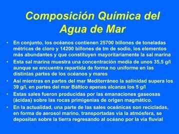 Composición Química del Agua de Mar - CEAB