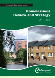 Homelessness Review and Strategy 2011-2016 - Chelmsford ...