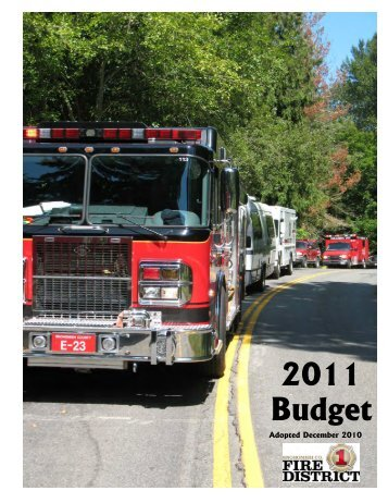 2011 Budget - Snohomish County Fire District 1