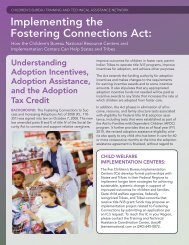 Implementing the Fostering Connections Act: - National Child ...