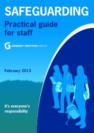 Safeguarding Learners Guide - Grimsby Institute of Further & Higher ...