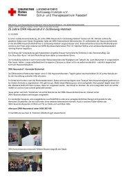 25 Jahre DRK-Hausnotruf in Schleswig-Holstein - DRK-Schul