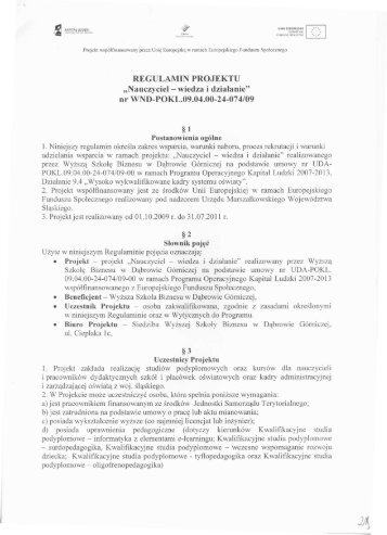 Ę emitenta. / - Wyższa Szkoła Biznesu w Dąbrowie Górniczej