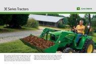 3E Series Tractors - John Deere