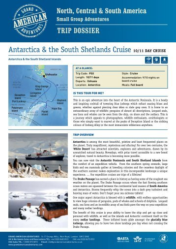 Antarctica & the South Shetlands - Adventure holidays