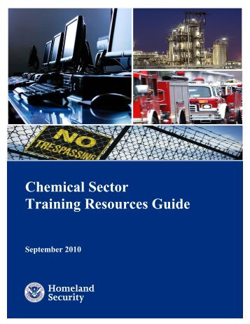Chemical Sector Training Guide - Wisconsin Agri-Business ...