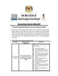 Syarat-Syarat Permohonan - Jabatan Kemajuan Islam Malaysia