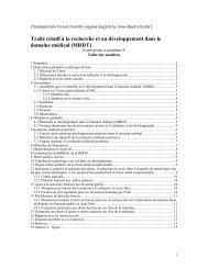 Traité relatif à la recherche et au développement dans le domaine ...