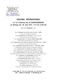 Einladung und Programm des Festaktes zur ... - Kolping Europa