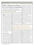 MSA Arbitration Heats Up Over Escrow Refunds - Troutman Sanders ... - Page 2
