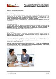 Unsere Angebote - Event & Consulting