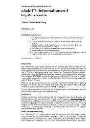 click-TT- Informationen 4 - Fachverband Tischtennis Bremen FTTB