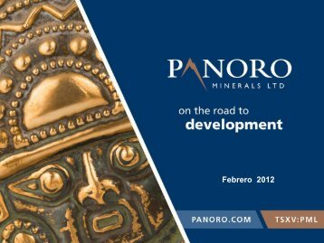Recurso - Panoro Minerals Ltd.