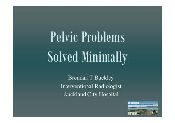 Pelvic Problems Solved Minimally