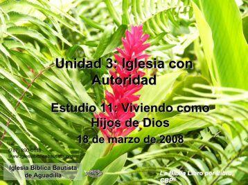 Estudio Galatas 4 - Iglesia Biblica Bautista de Aguadilla, Puerto Rico