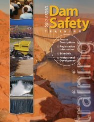 2012 ASDSO - Association of State Dam Safety Officials