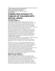 connecting schools to families of children with special needs