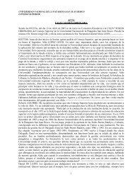 Acta CXLIVº Sesión Ordinaria - Infoweb2.unp.edu.ar - Universidad ...
