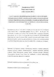 Zarządzenie nr 5/2012 Wójta Gminy Suchy Las z ... - Gmina Suchy Las