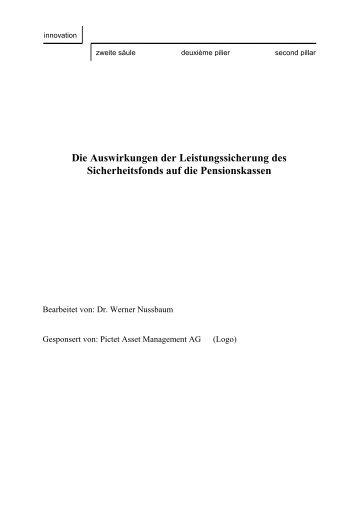 Die Auswirkungen der Leistungssicherung des ... - Administration