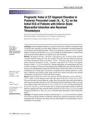 Prognostic Value of ST-Segment Elevation in Posterior Precordial ...