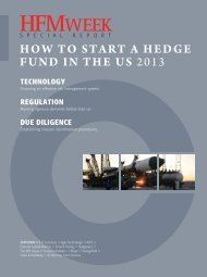 HOW TO START A HEDGE FUND IN THE US 2013 - HFMWeek