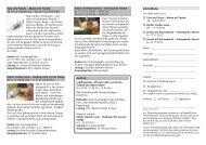 Zu folgenden Veranstaltungen, Tagungen und Seminaren laden wir ...