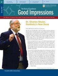 Dr. Charles Shuler, Dentistry's New Dean - UBC Dentistry