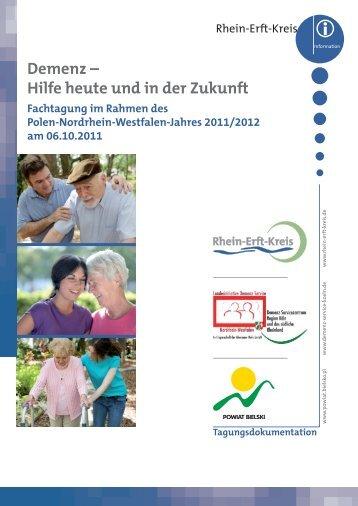 Demenz – Hilfe heute und in der Zukunft - Rhein-Erft-Kreis