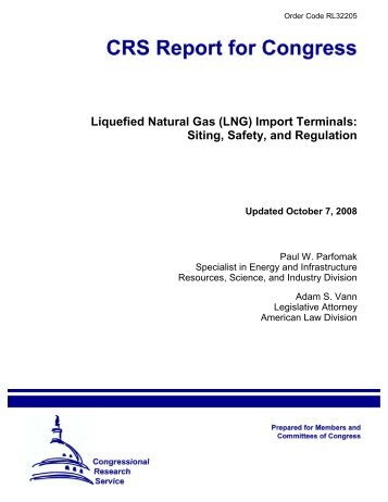 Liquefied Natural Gas (LNG) Import Terminals: Siting ... - PolicyArchive