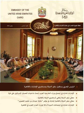 العدد السادس: نوفمبر 2012